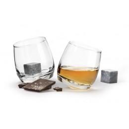 Набор бокалов для виски с кубиками для охлаждения SagaForm Club 200 мл 2 шт