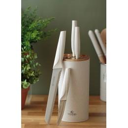 Набор из 5 ножей в подставке Viners Organic бежевый