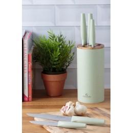 Набор из 5 ножей в подставке Viners Organic зеленый