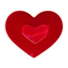 Блюдо Сердце терракота SagaForm Winter