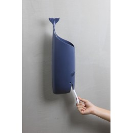 Держатель для пакетов и туалетной бумаги Qualy Moby Whale синий