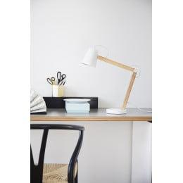 Лампа настольная Play, белая матовая, ясень, белый шнур