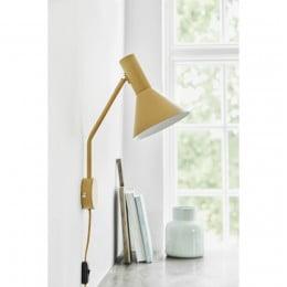 Лампа настенная Lyss миндальная матовая