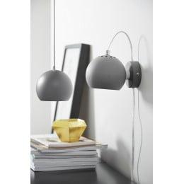 Лампа настенная Ball светло-серая матовая