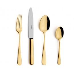 Набор столовых приборов CUTIPOL ATLANTICO GOLD матовый