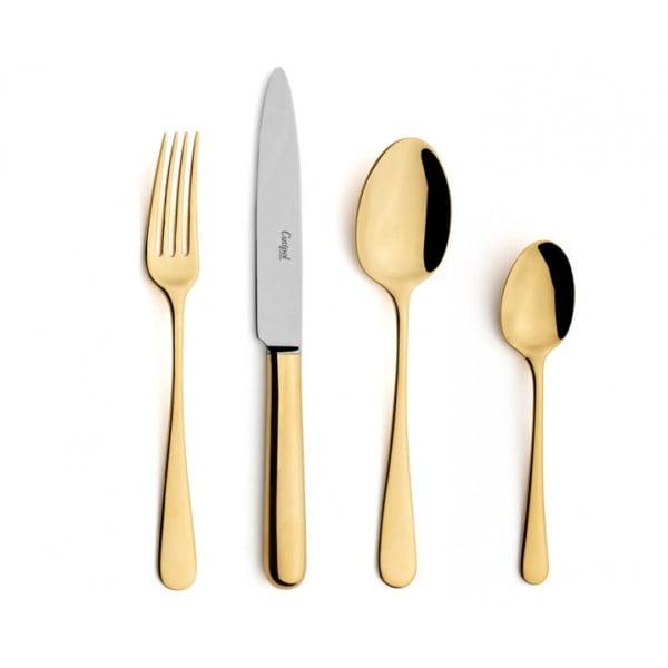 Набор столовых приборов CUTIPOL Atlantico Gold, зеркальная полировка позолоченные