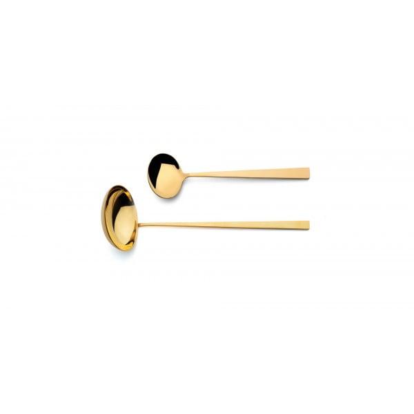 Набор столовых приборов CUTIPOL Bauhaus Gold, зеркальная полировка позолоченные