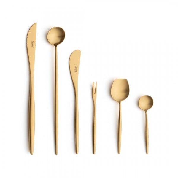 Набор столовых приборов CUTIPOL Moon Matte Gold, матовый позолоченные