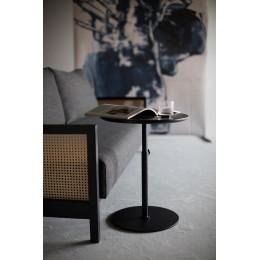 Столик Innovation Living Kiffa с чёрной дубовой столешницей, 45 см