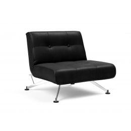 Кресло Innovation Living Clubber, чёрная экокожа