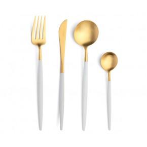Набор столовых приборов CUTIPOL Goa White Gold 24 предмета, белый