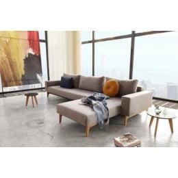 Угловой диван-кровать Innovation Living Idun Lounger, серый