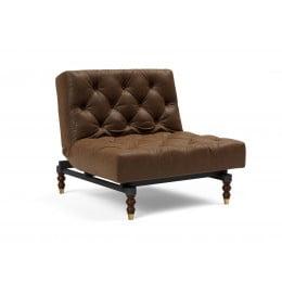Кресло Innovation Living Oldschool Retro, коричневый эффект кожи