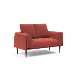 Кушетка Innovation Living Rollo Styletto тёмный дуб, вельвет кирпично-красная