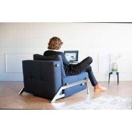 Кресло Innovation Living Cubed Chrome, синий