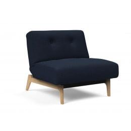 Кресло Innovation Living Ample Eik светлый дуб, синий