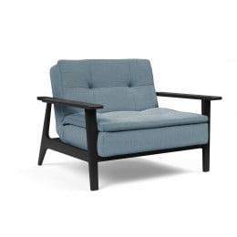 Кресло Innovation Living Dublexo Frej чёрный дуб, индиго