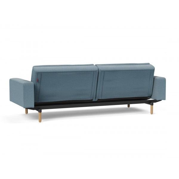 Диван-кровать Innovation Living Dublexo Stem дуб с подлокотниками, индиго