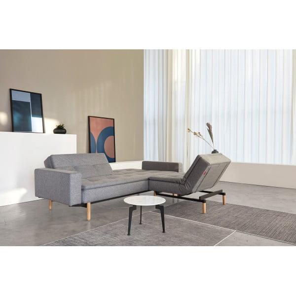 Диван-кровать Innovation Living Dublexo Stem дуб с подлокотниками, серый