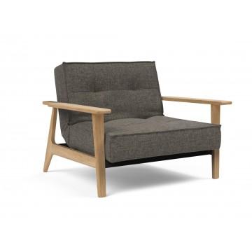 Кресло Innovation Living Splitback Frej светлый дуб, тёмно-серый