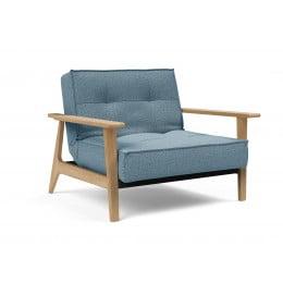Кресло Innovation Living Splitback Frej светлый дуб, голубой