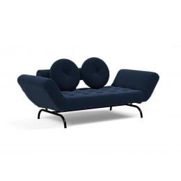 Кушетка Innovation Living Ghia Haylo вельвет тёмно-синяя