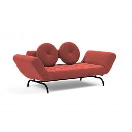 Кушетка Innovation Living Ghia Haylo вельвет кирпично-красная
