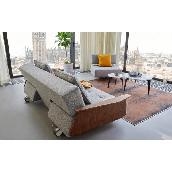 Диван-кровать Innovation Living Long Horn Excess Deluxe c подлокотниками, серый