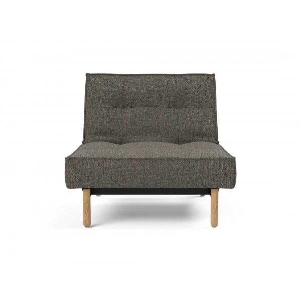 Кресло Innovation Living Splitback Stem дуб, тёмно-серый