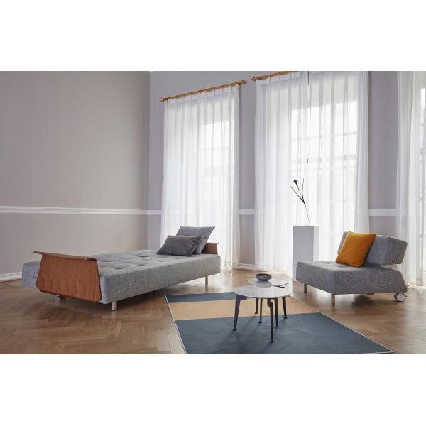Диван-кровать Innovation Living Long Horn Deluxe c подлокотниками, серый