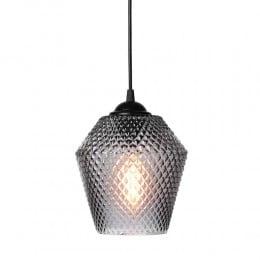 Подвесной светильник NOBB MINI D14 40W E14 дымчатый стекло