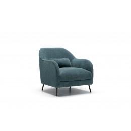 Кресло Sits Karin с пуфом, бирюзовый