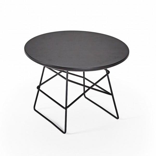 Столик Innovation Living Grids с чёрной дубовой столешницей, 45 см