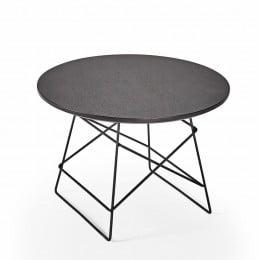 Столик Innovation Living Grids с чёрной дубовой столешницей, 35 см