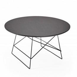 Столик Innovation Living Grids с чёрной дубовой столешницей, 70 см