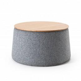 Столик Innovation Living с дубовой столешницей и отсеком для хранения, 70 см