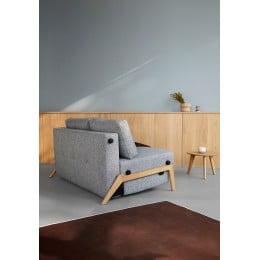 Диван-кровать Innovation Living Cubed с дубовыми ножками, серый