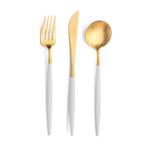 Набор столовых приборов CUTIPOL Goa White Gold, белый позолоченные