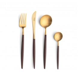 Набор столовых приборов CUTIPOL Brown Gold, позолоченные коричневый