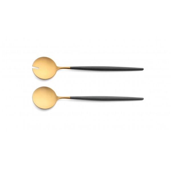 Набор столовых приборов CUTIPOL Goa Grey Gold, позолоченные серые