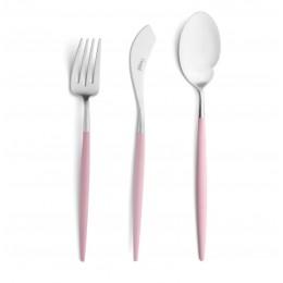 Набор столовых приборов CUTIPOL Goa Pink, розовый