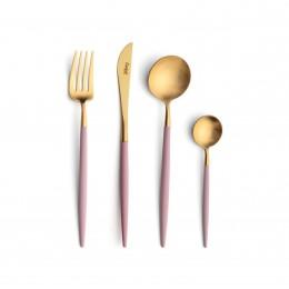 Набор столовых приборов CUTIPOL Goa Pink Gold, позолоченные розовые