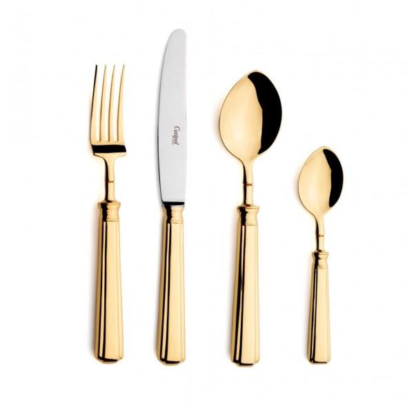 Набор столовых приборов CUTIPOL Piccadilly Gold, зеркальная полировка позолоченные