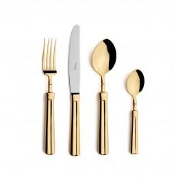 Набор столовых приборов CUTIPOL Fontainebleau Gold, зеркальная полировка позолоченные