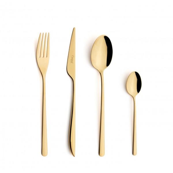 Набор столовых приборов CUTIPOL Icon Gold, зеркальная полировка позолоченные