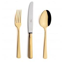 Набор столовых приборов CUTIPOL Athena Gold, зеркальная полировка позолоченные