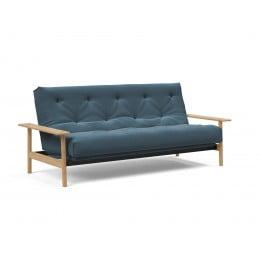 Диван-кровать Innovation Living Balder с матрасом Soft Spring, сине-зелёный