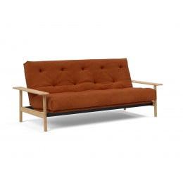 Диван-кровать Innovation Living Balder с матрасом Soft Spring, вельвет апельсиновый