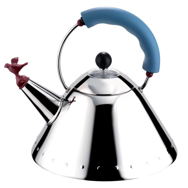 Чайник со свистком Alessi голубой