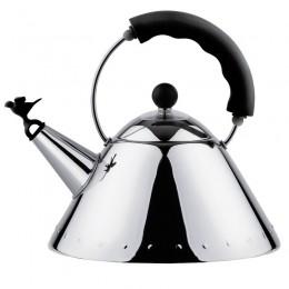 Чайник со свистком Alessi черный